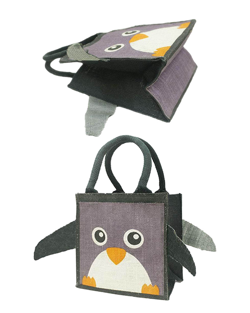Animal Jute Bag- Penguin - Folk