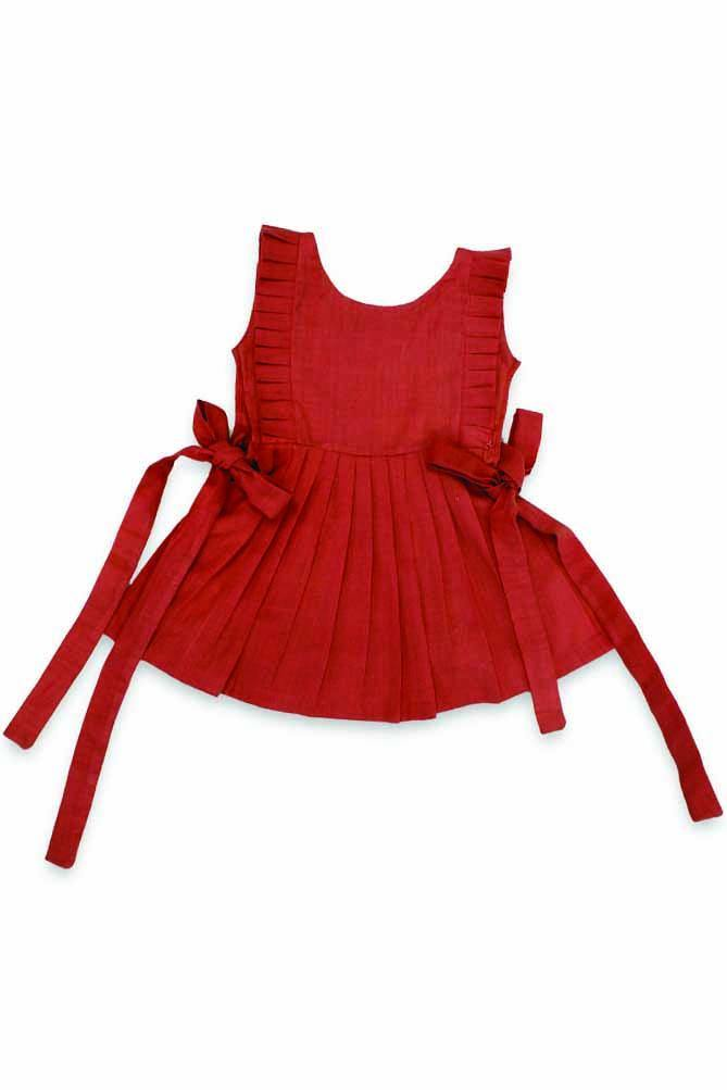 Baby Girl Tie-up Throw over Dress