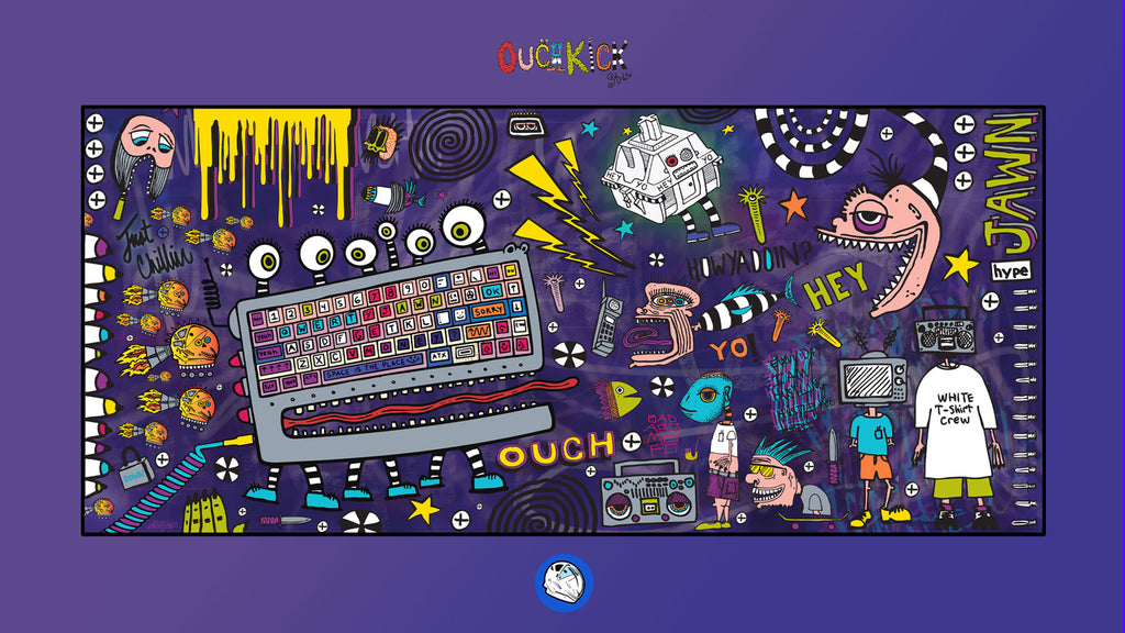 Ouchkick x Space Desk Pad