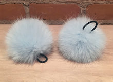Load image into Gallery viewer, Robin's Egg Blue Mink Faux Fur Pom Pom for Your or Baby's Knit Hat, 3.5-Inch Detachable