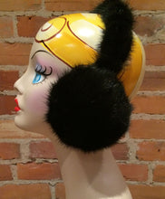 Load image into Gallery viewer, Black Mink Wraparound Full Fur Headband Earmuffs