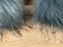 Load image into Gallery viewer, Sky Blue Faux Fox Fur Pom Pom for Your Knit Hat