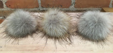 Load image into Gallery viewer, Grey Wolf Faux Fur Pom Pom, 3.5-Inch