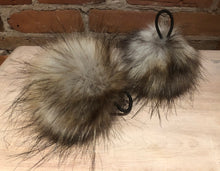 Load image into Gallery viewer, Grey Gold Coyote Faux Fur Pom Pom, 5-Inch