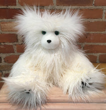 Load image into Gallery viewer, Briette, the Faux Fur White Curly Mongolian Lamb Teddy Bear