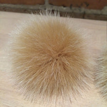 Load image into Gallery viewer, Small Gold Fox Faux Fur Pom Pom