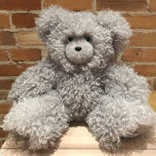 Load image into Gallery viewer, Fizz, the Faux Fur Grey Curly Lamb Teddy Bear