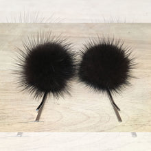 Load image into Gallery viewer, Oogie, the Grey Eyed Bright White, with Black Flecks Faux Blue Fox Fur Teddy Bear
