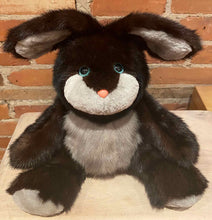 Load image into Gallery viewer, Collectible Recycled Fur Bunny Bear with Poseable Ears Down