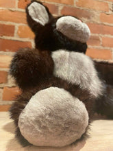Load image into Gallery viewer, Black Handmade Mink Fur Teddy with Hand Sheared Silver Mink Feet