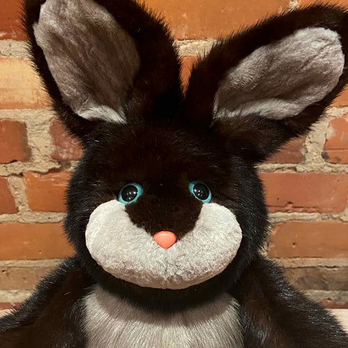 Brown Black and Grey Handmade Bunny Bear