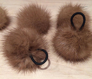 Honey Brown Mink Pom Pom, 2-Inch