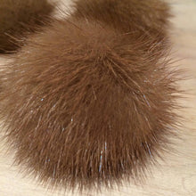 Load image into Gallery viewer, Honey Brown Mink Pom Pom, 2-Inch