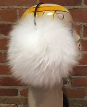Load image into Gallery viewer, Pure White Lamb Fur Jumbo Earmuffs