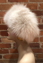 Load image into Gallery viewer, Beige Recycled Fox Fur Women's Winter Headband