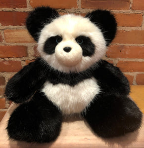 Miranda, the Blue Eyed Panda Bear, Faux Mink Fur Teddy Bear