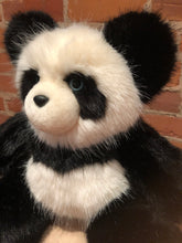 Load image into Gallery viewer, Miranda, the Blue Eyed Panda Bear, Faux Mink Fur Teddy Bear