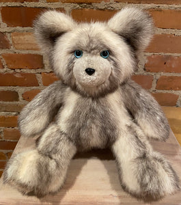 Oreo, the Black and White Real Fur Artist Collectible Teddy Bear