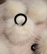 Load image into Gallery viewer, Recycled Fur Pom Pom - 2-Inch Cream Puff Ivory Mink Pom Pom - Detachable