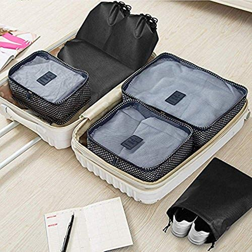 10pc Travel Shoe Organizer Bags with Drawstring with Tieback -black (10 pcs): Portable Waterproof - My Travel Shop