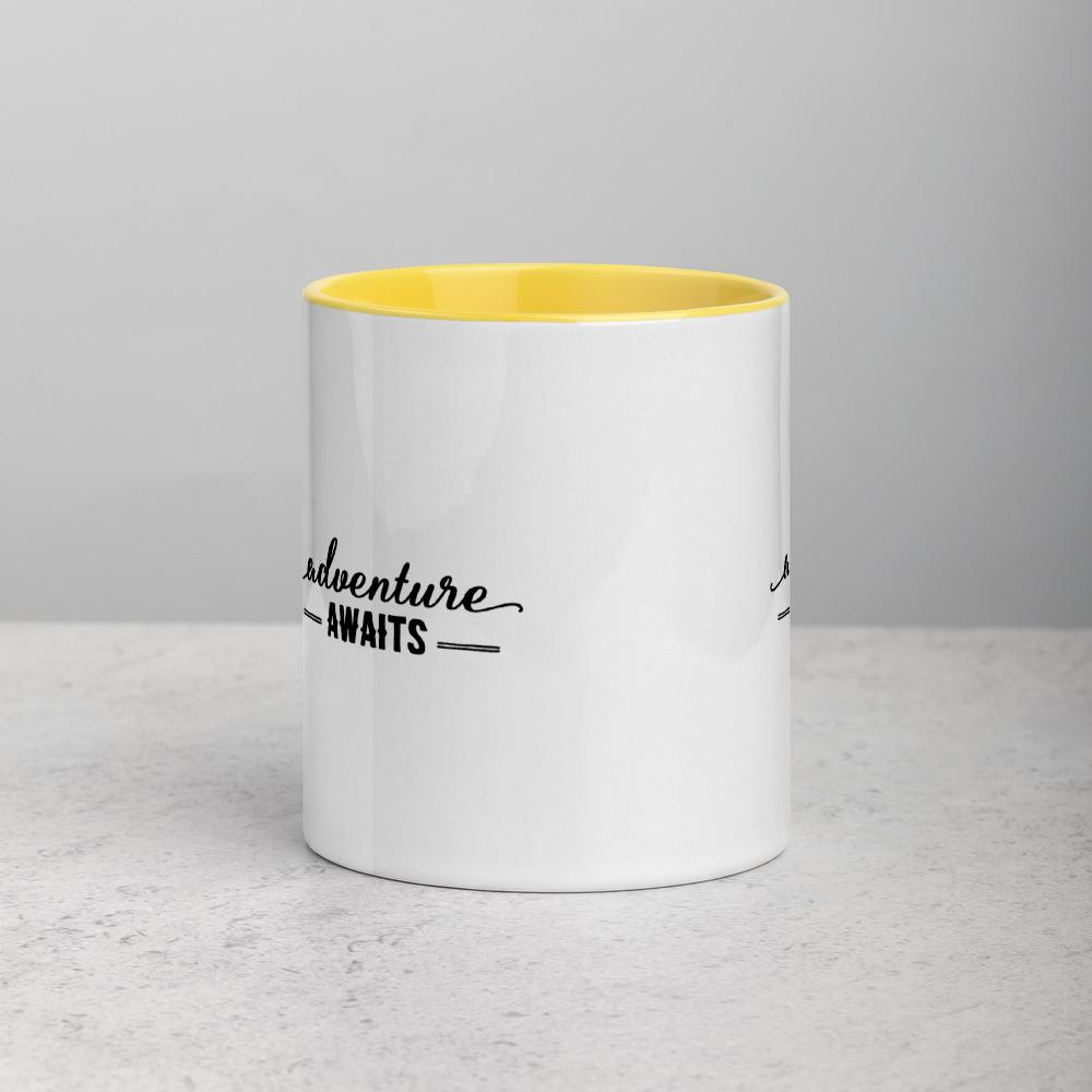 Adventure Awaits! Mug with Color Inside - My Travel Shop