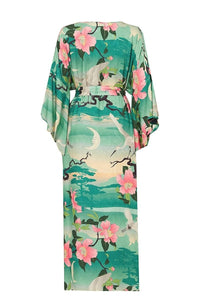 Floral long cardigan swimwear summer beach cover up - My Travel Shop