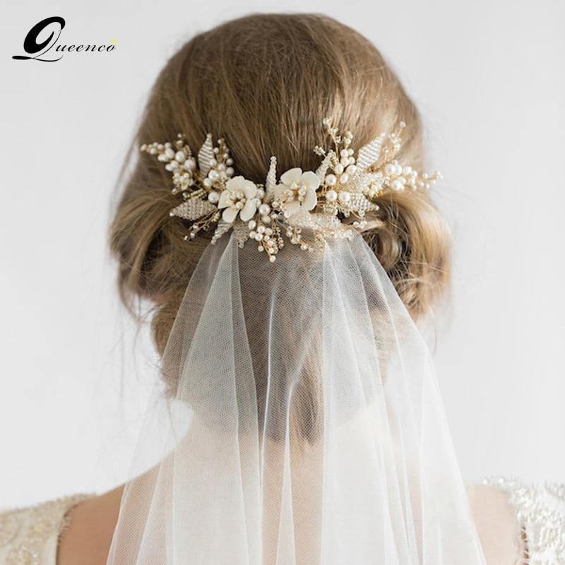 Gold Bridal Hair Comb - My Travel Shop