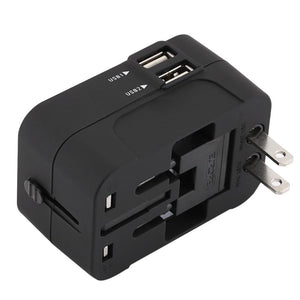 International Power Travel Adapter Dual USB Port - My Travel Shop