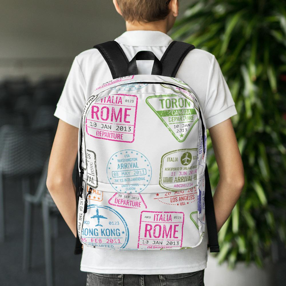 Passport Stamps Backpack - My Travel Shop