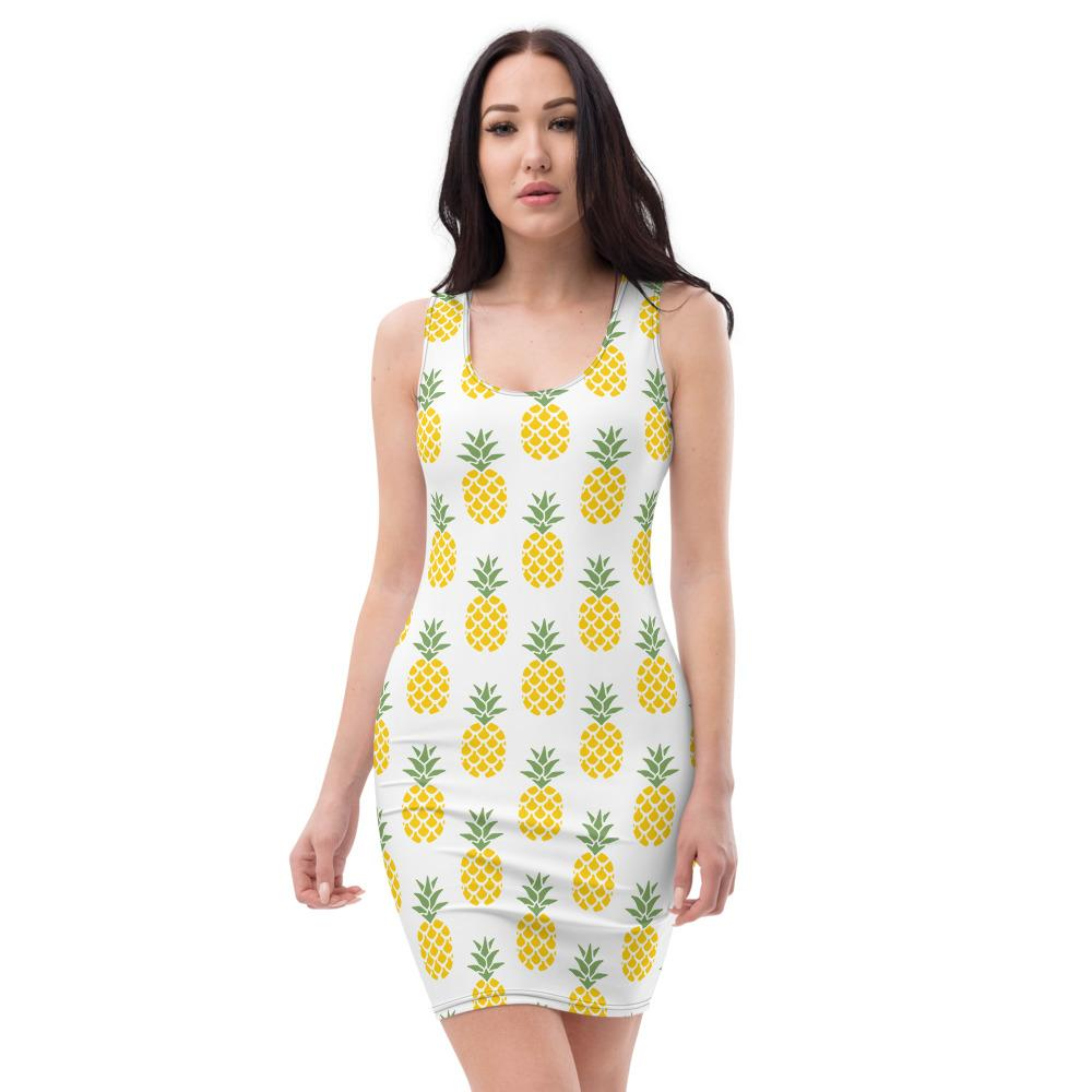 Pineapple Sublimation Cut & Sew Dress - My Travel Shop