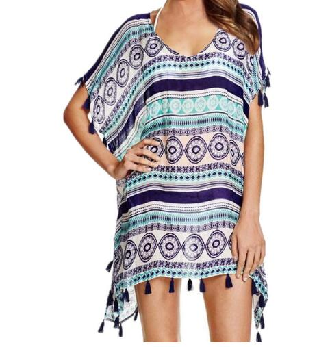 Striped Beach Cover Up - My Travel Shop