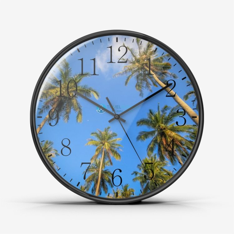 Travel Gurus Wall Clock Silent Non Ticking Quality Quartz - My Travel Shop