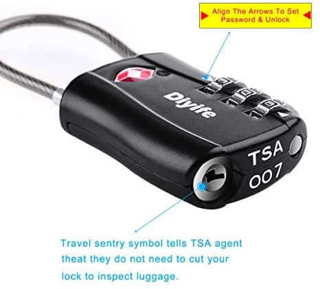 TSA Luggage Locks,[Newest Version][2 Pack] Diyife 3-Digit Travel Lock, Combination Padlocks, Code Lock for Travel Suitcase Luggage Bag Case - My Travel Shop