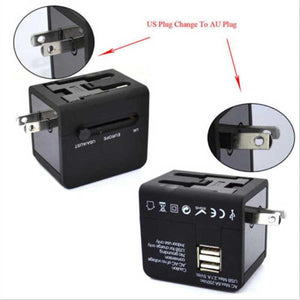 Universal Travel Adapter Power Adapter Electric Plugs Sockets Adapter Converter USB Travel Socket Plug Power Charger Converter - My Travel Shop