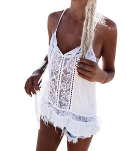V-neck beach lace - My Travel Shop