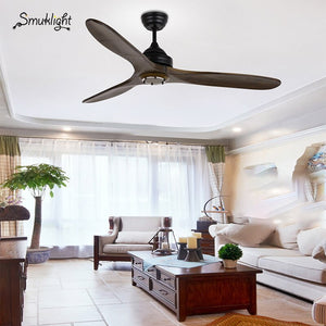52 Inch Wooden Ceiling Fan Dc Remote Control Decorative Wood Ceiling Fans Without Light Fan Lamp 220V Ventilador De Techo