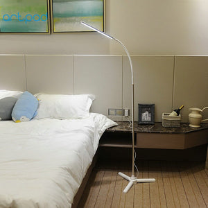 10W Touch Dimmer 72 PCS LED Modern Tripod Floor Lamp 360 Rotatable Gooseneck Wireless Remote Control Floor Stand Lamp