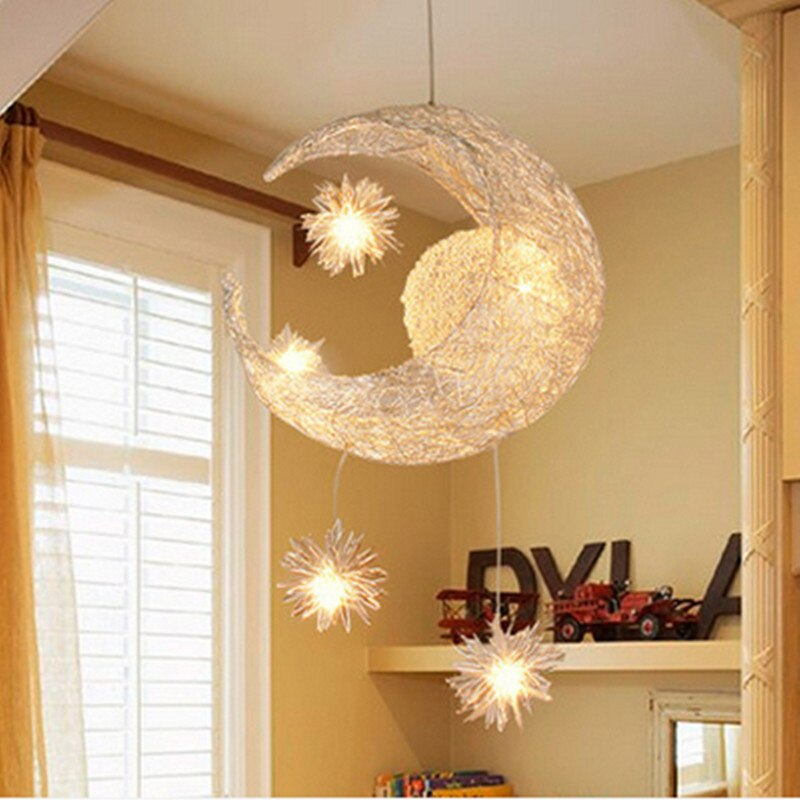 Art Design Moonstars Pendant Lights Home Decor Lighting Aluminium
