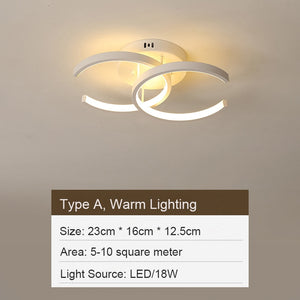 LED Ceiling Light Fixtures Bedroom Hallway Living Room Corridor Aluminum Surface Mounted Ceiling Lamps Modern