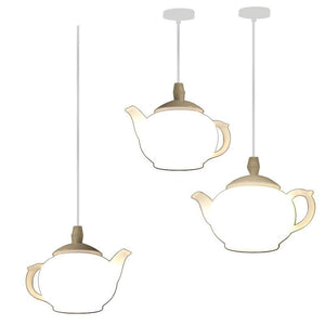 Modern Art Decorative Teapot Pendant Light Lamps Exterior Dining Room Bar Hotel Acrylic LED Hanging Lamp Pendant Lighting