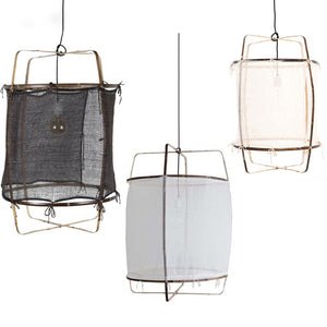 Ay Illuminate Large Cotton Lamps Bamboo Pendant Lamps Restaurant Hanging Lamps Personality Coffee Bar LED Pendant Lights