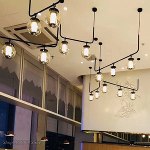 Black Bronze Metal Led Pendant Lights G9 American Dining Room LED Pendant Lamps Luminaria Indoor Lighting Hanging Lamp Fixtures
