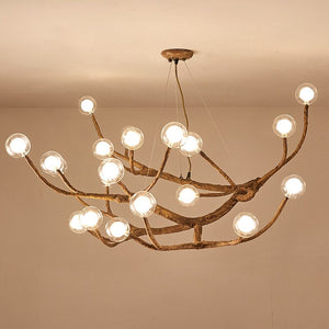 Creative Branch Chandelier Brown Resin 121820 Arms Drop Light Living Room Hall Apartment LED Tree Branch Lighting Fixtures