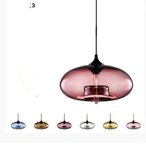 Creative Design Bar Restaurant Pendant Lights Clear Glass Lampshade Living Room Edison LED Hanging Lamp Dining Room