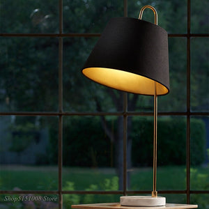 Creative Table Lamp Modern Fabric Lampshade Desk Lamp For Bedroom Living Room Study Room Home Decor Lights Fixtures
