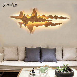Creative Nordic Bedroom Bedside Wood Wall Light Foyer Study Background Lamp Bathroom Mirror Lighting All Wall Home Decor
