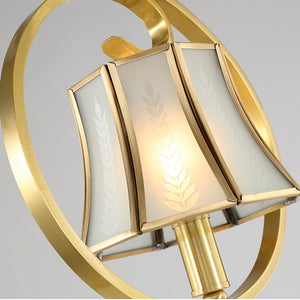 Designer Room Golden LED Pendant Lamp Light Foyer Dinning Living Kitchen Room Hanging Light Lamp Copper Brass Color Pendant Lamp
