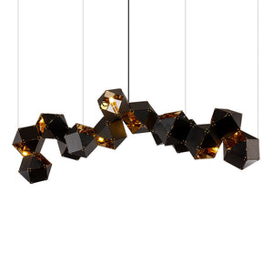 Gabriel Scott Contemporary Lighting Modern Chandelier Welles DNA Design Living Room Restaurant Bar Lobby Decorative Lighting