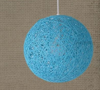 Hemp Ball Pendant Lamp Rattan Hanging Lights Home Art Decor Living Room Bedroom Kitchen Light Fixtures Suspension Luminaire