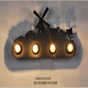 Industrial Vintage Wall Lamp Iron Horse Led Wall Light Restaurant Bar Foyer Bedroom Light Wandlamp Wall Sconce Lighting Fixtures